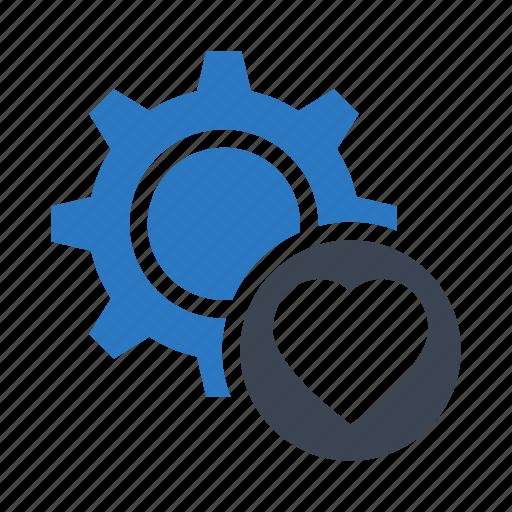configuration, favorite, gear, option, setting icon