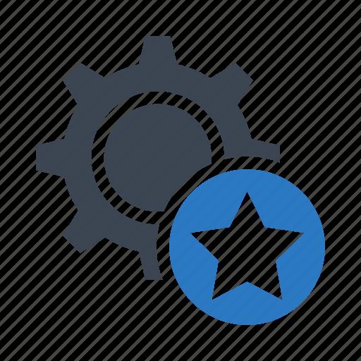 configuration, favorite, option, setting, star icon