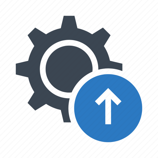 configuration, gear, option, setting, upload icon