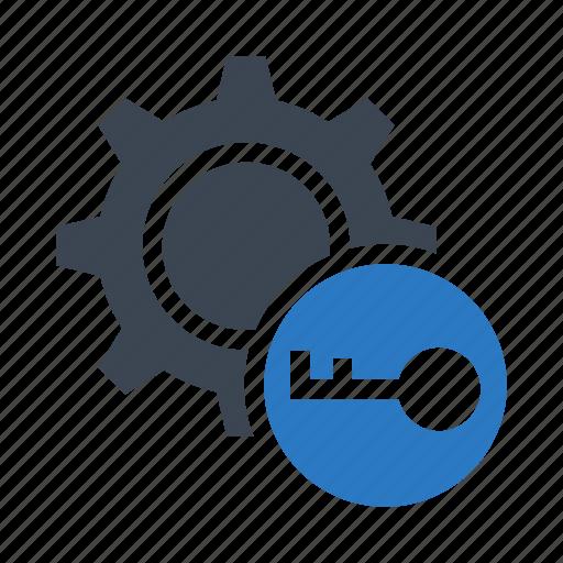 configuration, key, lock, protection, setting icon