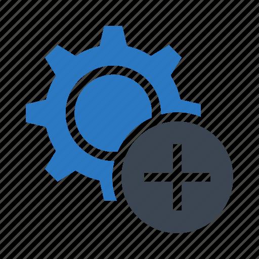 add, configuration, option, plus, setting icon