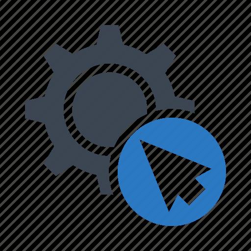 click, configuration, cursor, pointer, setting icon