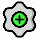 gear, plus, settings, configurable