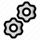 gears, options, settings icon