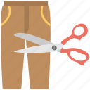 measurement, trouser, stitching, fabric cutting, trouser cutting icon