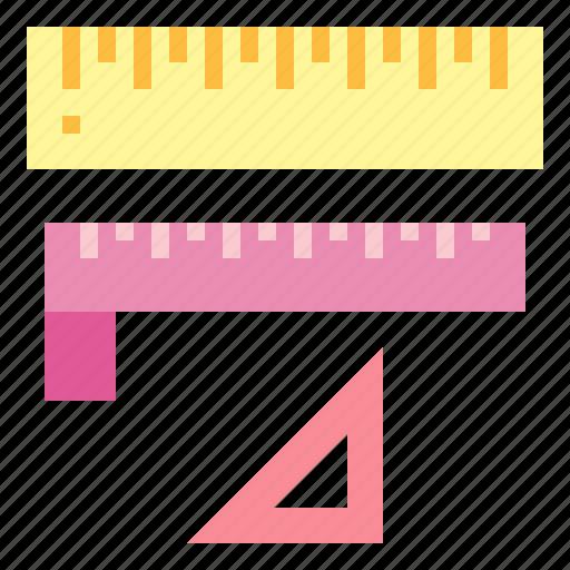 design, graphic, measuring, ruler, triangle icon