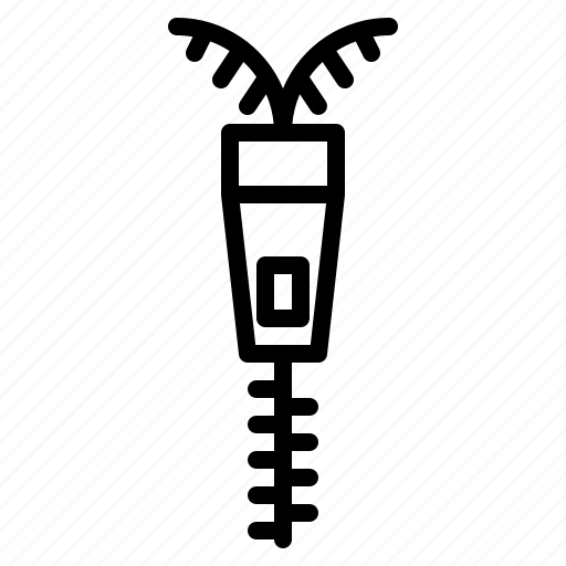 fabric, fashion, material, zip, zipper icon