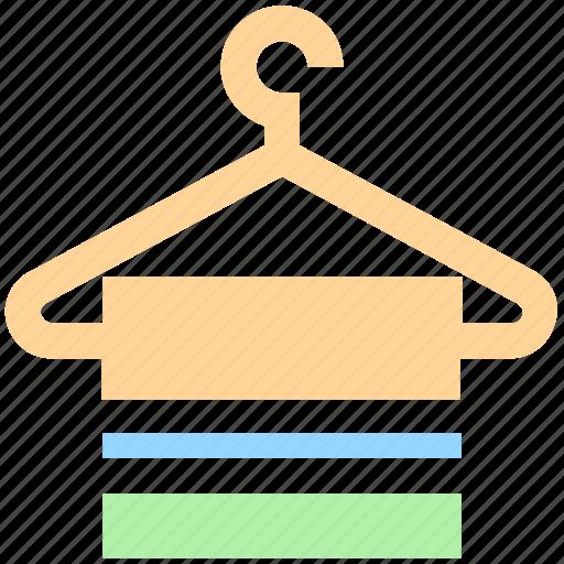 bathing, clothes hanger, hanger, hanging towel, towel icon