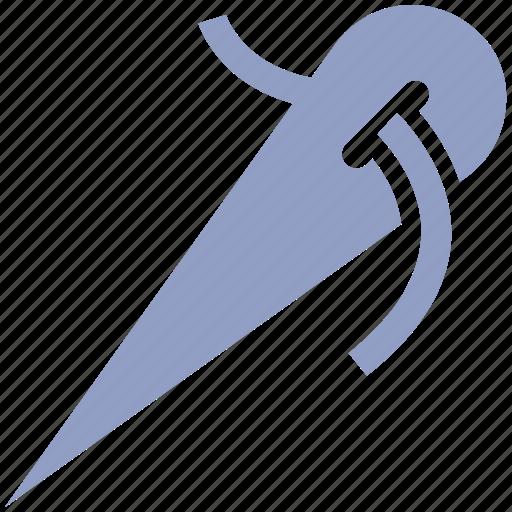 crafting, needle, sewing needle, swing, thread icon