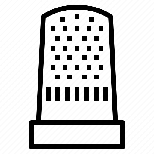Thimble, sewing, needle, protector, tool icon - Download on Iconfinder