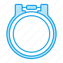 embroidery, frame, sewing icon