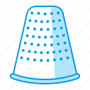 equipment, sewing, thimble icon