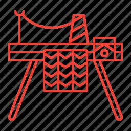 equipment, knitting, machine, sewing icon