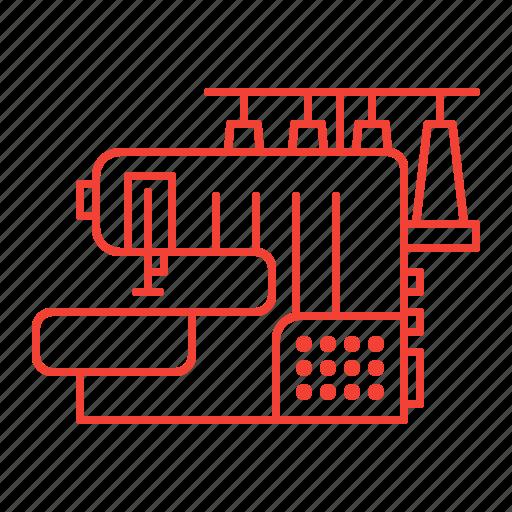 equipment, machine, overlock, sewing icon