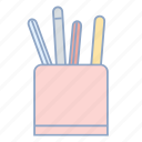 holder, pen, pen holder, pencils, pens, sewing icon