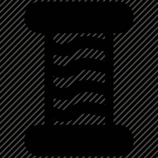 sew, sewing thread, spool of thread, thread, thread cone icon
