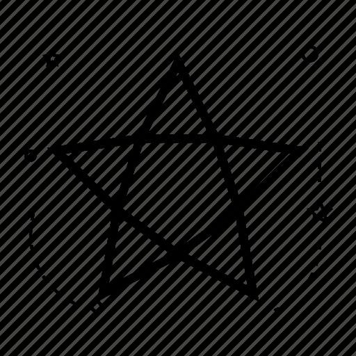 application, creative, design, line, shape, star, winner icon