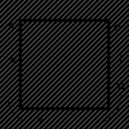 application, box, check box, design, line, rectangle, shape icon
