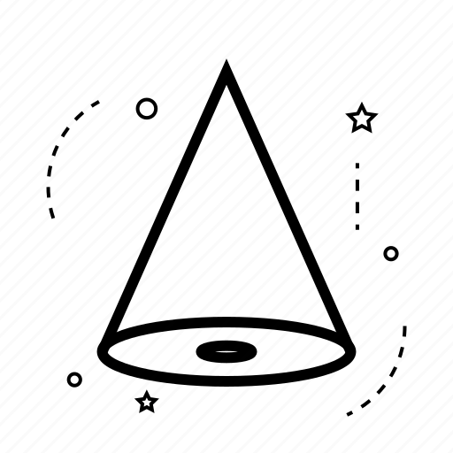 abstract, application, cone, creative, design, line, shape icon