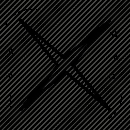 application, cancel, design, false, line, reject, shape icon