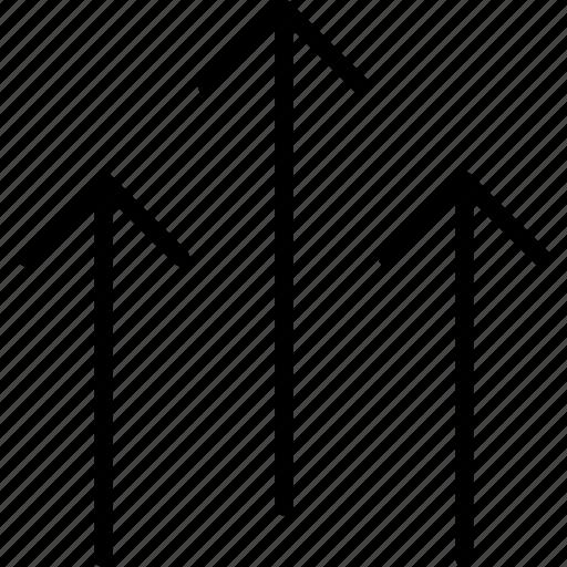 arrows, decor, design, direction, up, upwards icon