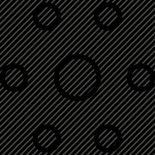 center, circles, decor, emphasis, hexagon, pattern icon