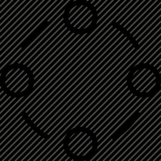circle, circles, decor, ornament, pattern, position, shape icon