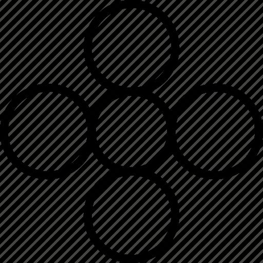 circles, design, ornament, pattern, shape icon