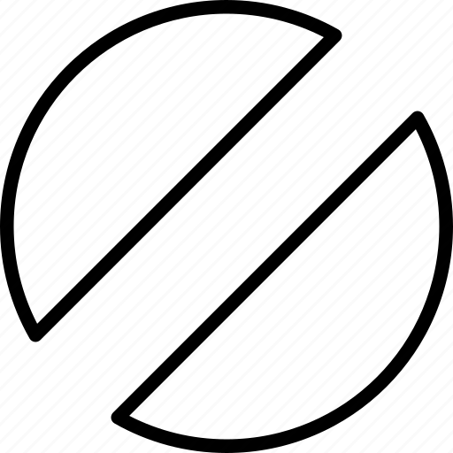 circular, half, pattern, shape icon