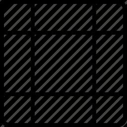 block, design, grid, irregular, square icon