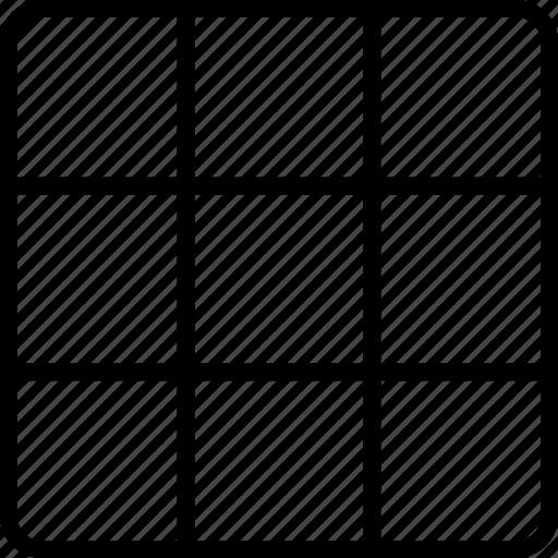 block, deisng, grid, regular, square icon
