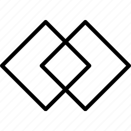 intersecting, squares icon