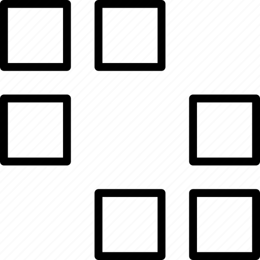 arrows, ornament, pattern, rectangles, squares icon