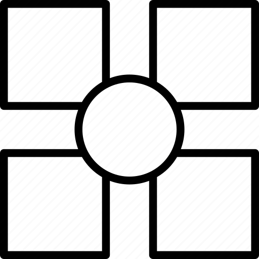 circle, pattern, shape, squares icon