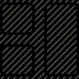 placement, position, rectangles, shape, squares icon