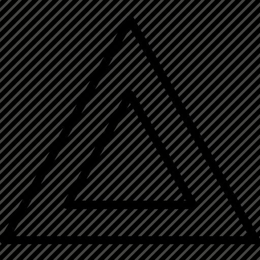 design, double, ornament, pattern, pyramyd, shape, triangles icon