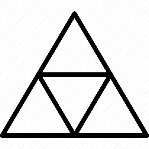 mosaique, pattern, shape, triangles icon