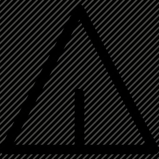 airplane, edge, paper, pyramyd, send, triangle icon