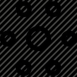 center, circles, decor, emphasis, pattern, position icon