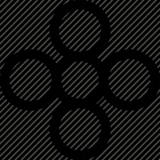 circles, decor, design, ornament, pattern, shape icon