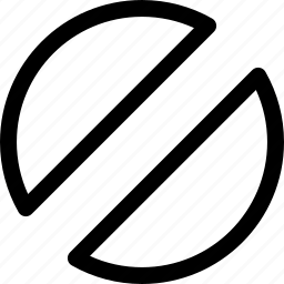 circular, decor, design, half, pattern, shape icon