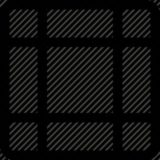 blocks, design, grid, irregular, pattern, square icon