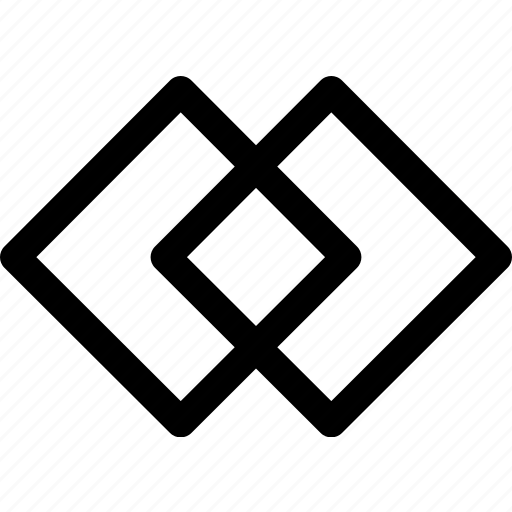 design, double, intersecting, ornament, pattern, squares icon