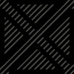 arrows, decor, design, pattern, quarter, rectangle icon