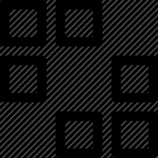 arrows, design, ornament, pattern, rectangles, squares icon