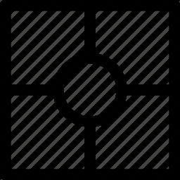 center, circle, design, pattern, square icon