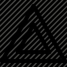 design, double, ornament, pattern, pyramyd, triangles icon