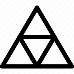 mosaique, pattern, pyramyd, triangles icon