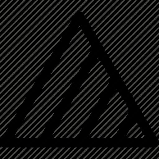 design, fill, scale, sizes, stripes, triangles icon