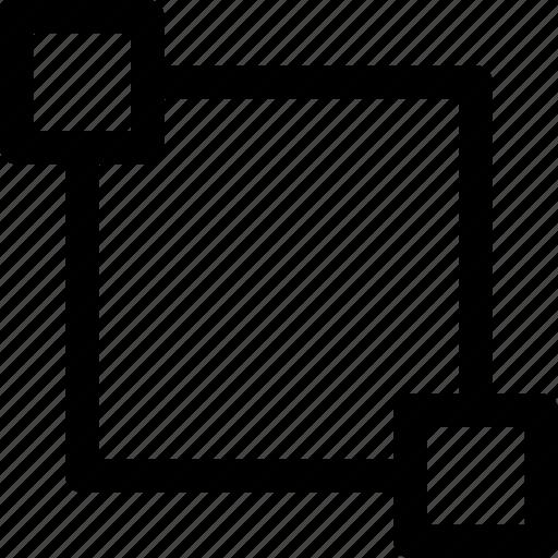 decor, editing, pattern, rectangle, square icon